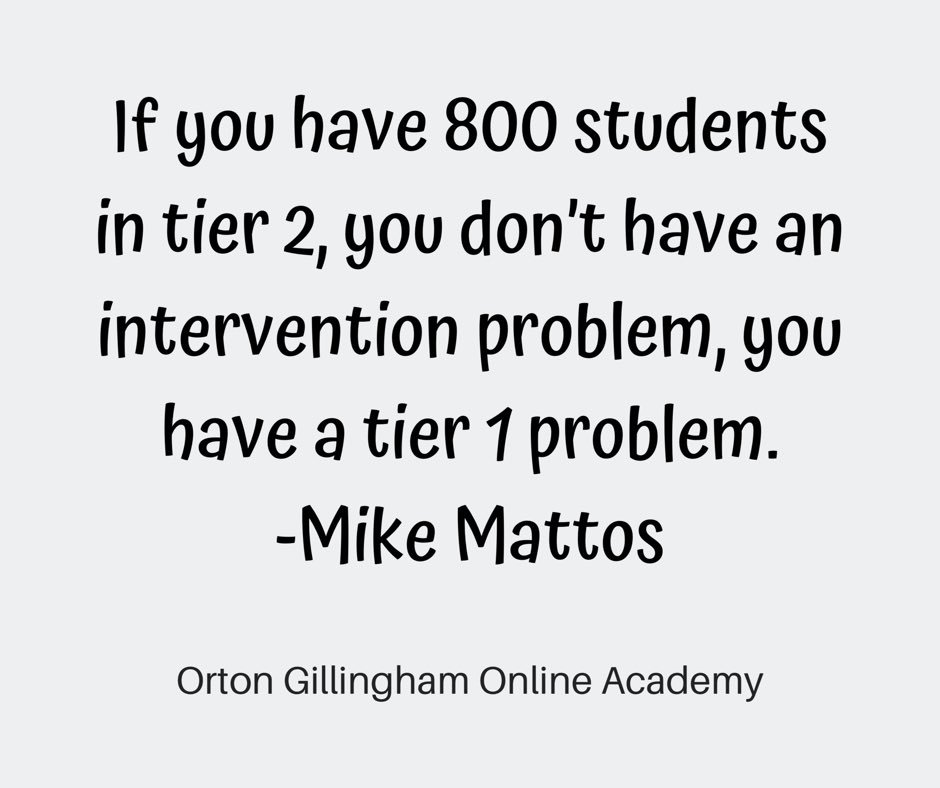 #truth 🙌🏻 All tiers have to be functioning optimally before RTI can be helpful.