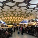 Image for the Tweet beginning: Abu Dhabi airport takes mosaics