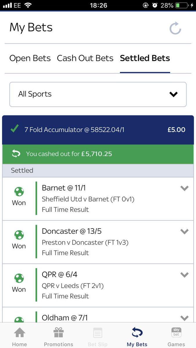 Football accumulators sky betting financial spread betting definition