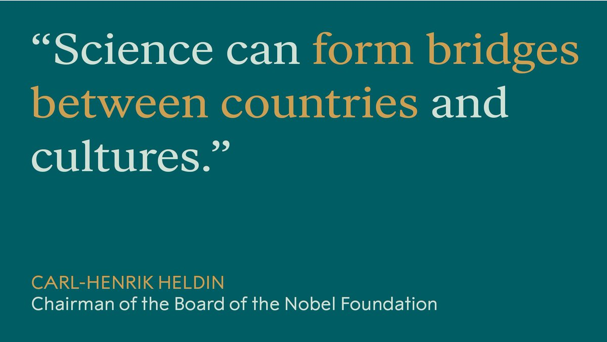 Carl-Henrik Heldin pointed out the power of science during the Nobel Prize award ceremony.
