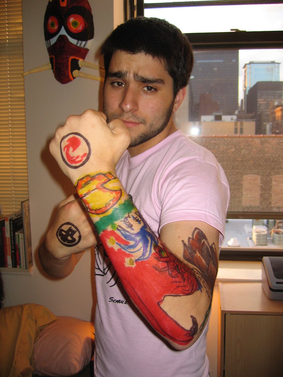 Jordan Vogt Roberts On Twitter If You Ever Wanted Photos Of Me In Film School When I Asked Jtwilcox To Draw Me A Magic The Gathering Sleeve Tattoo Then Today Is Your Lucky