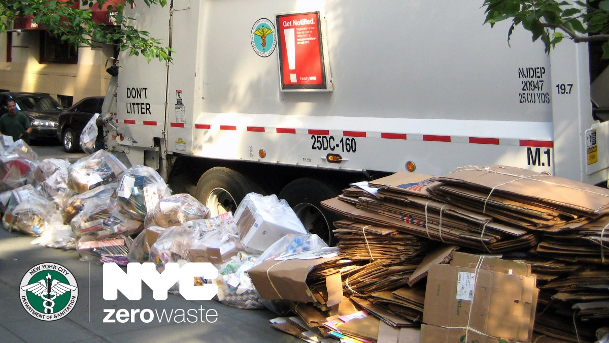 Nyc Sanitation On Twitter Putting Out Your Recycling For