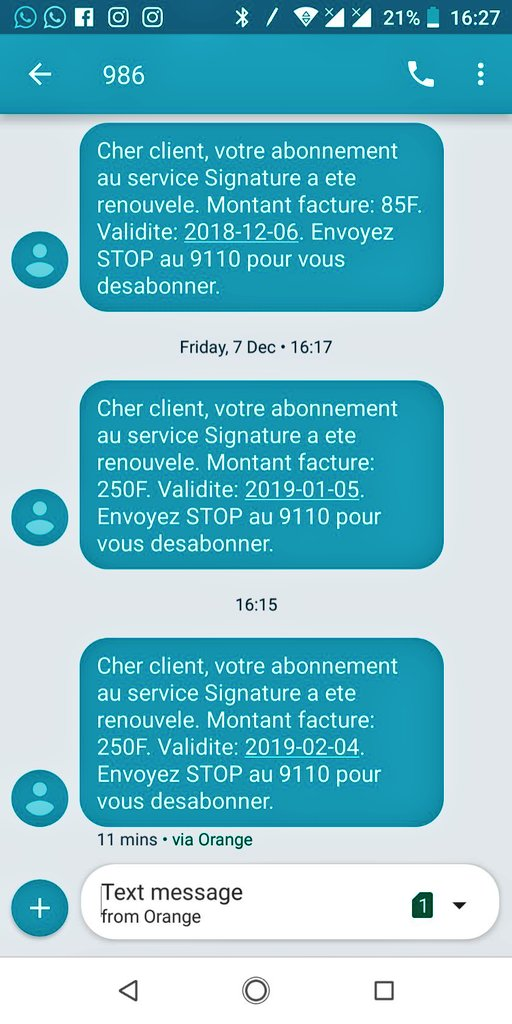 Happy New Year @Orange_Cameroun  What subscription are you talking about? #RetweetDisMadnessRoaming