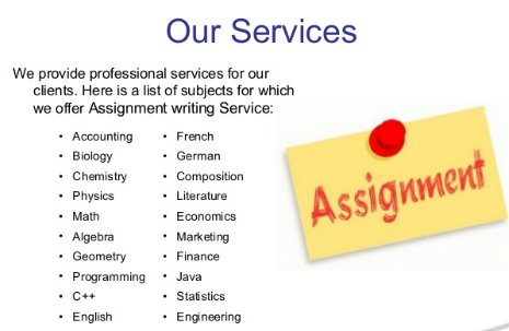 do assignments online