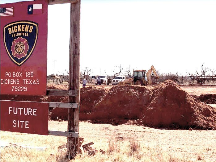 New Dickens Fire Department construction underway. #dickenstx #texasspur #hwy82 #txspurcountry #dickenscounty