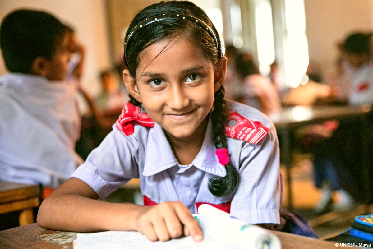 It's simple math!  Education = A brighter future #ForEveryChild   @UNICEFBD