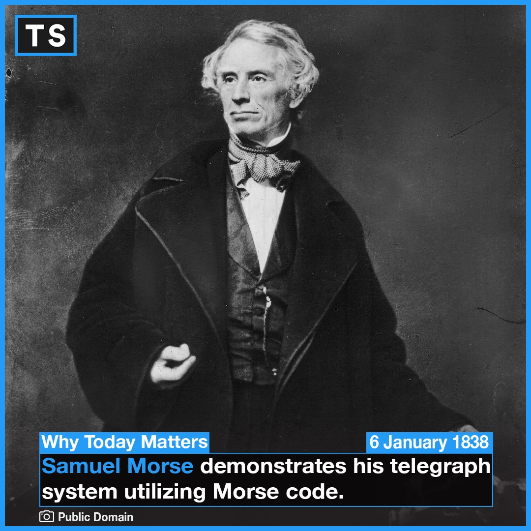 """In 1844, Morse sent the first official telegram over the line, with the message: """"What hath God wrought!"""" #morse #morsecode"""