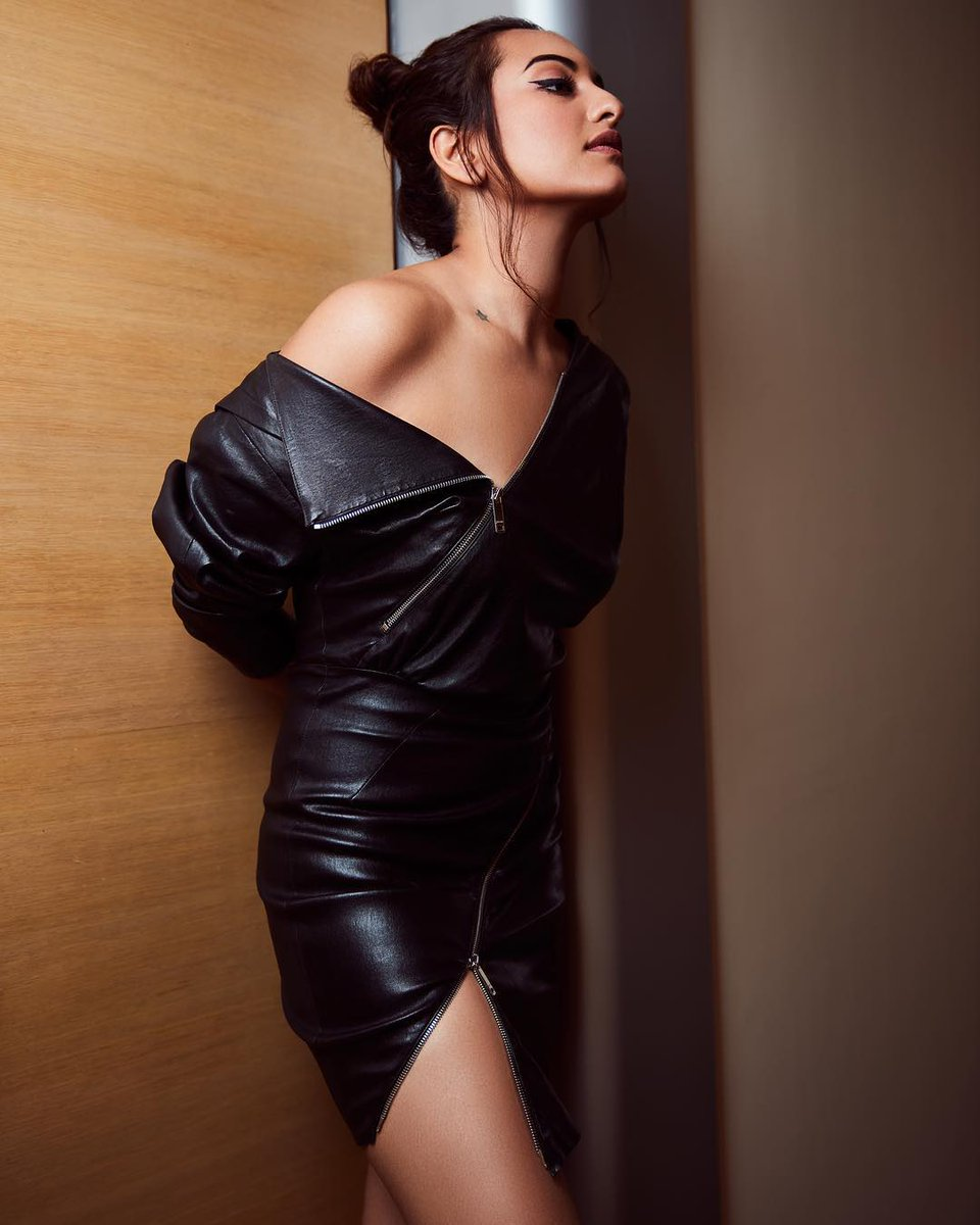 The beauty of @sonakshisinha is enhanced by our #jitrois leather dress 'Zipi'.  Photographed by #VijitGuptaPhotography | Styled by #MohitRai and #AakrutiSejpal | Hair by #MadhuriNakhale | Make-up by #SavleenManchanda |  | More about the article on:  |