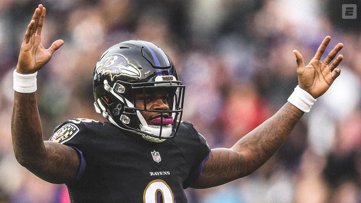 758e312f720 Lamar Jackson s rookie season  •4 QBs drafted ahead of him •Gets starting  job