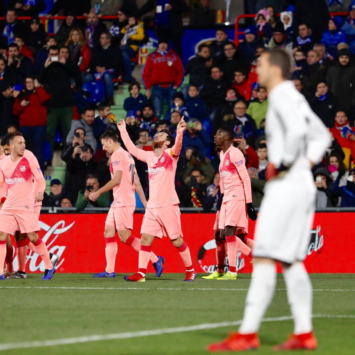 هدف برشلونة الاول في مرمي خيتافي