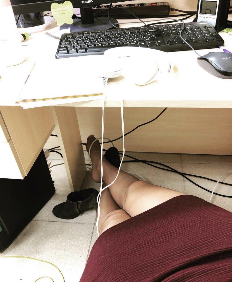 #RealOfficeGirls #ShoesOff #NylonFeet #SkirtPulledUp #Hot #Sexy