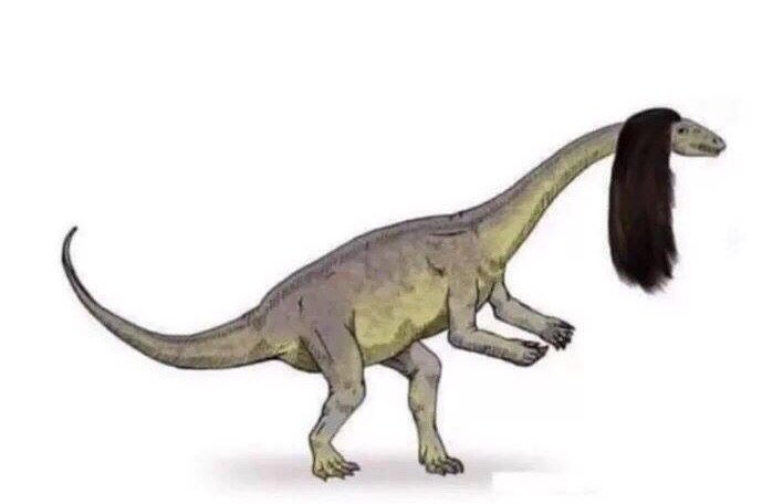 Since hair can't be preserved in fossils we can't rule out the possibility that dinosaurs looked like this