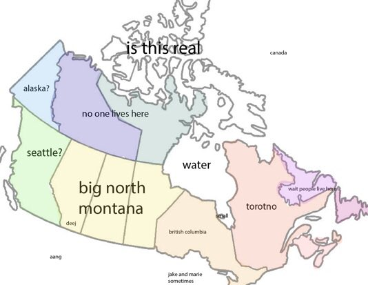 Fill In Map Of Canada.Deej On Twitter So I Got My Non Canadian Friends To Fill Out A Map