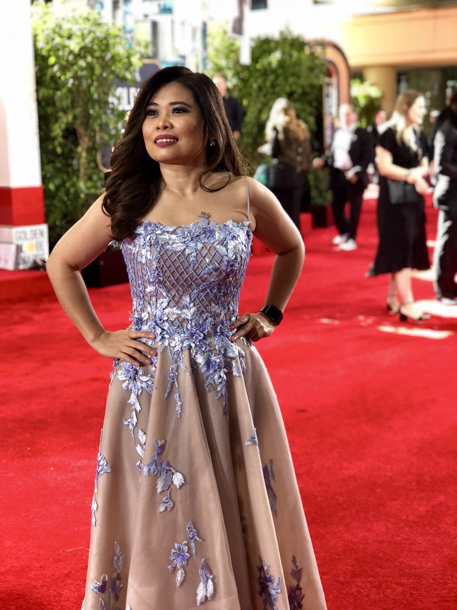 Yong Chavez On Twitter Working The Goldenglobes Red Carpet Wearing A Gown By Hollywood Based Filipino Fashion Designer And My Dear Friend Olivertolentino Salamat Oliver Https T Co Lemp2aak1d