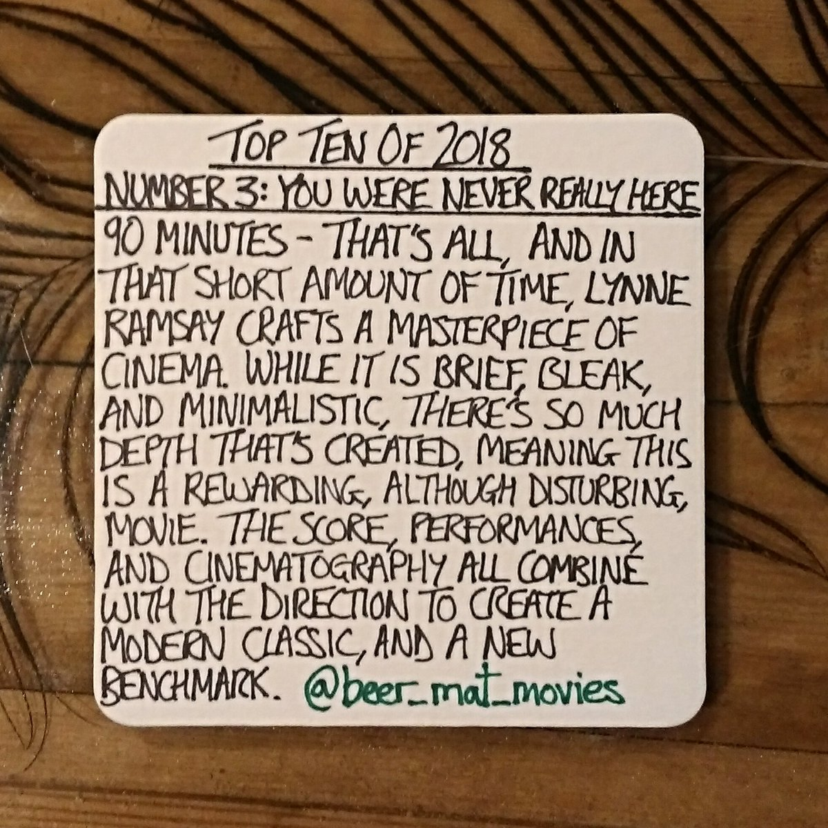 Beer Mat Movies On Twitter Top Ten Of 2018 Number 3 You Were