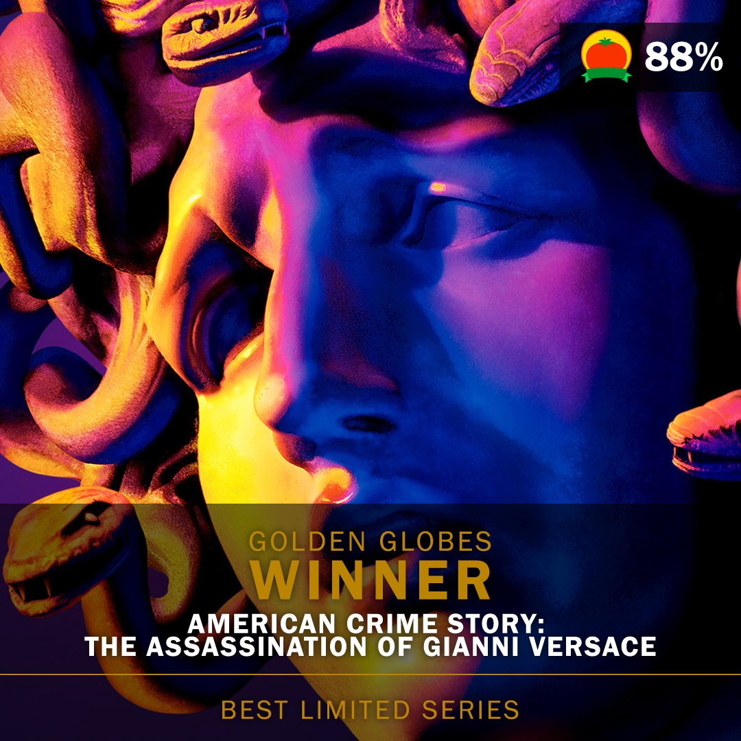 #ACSVersace (88%) wins Best Limited Series at the #GoldenGlobes