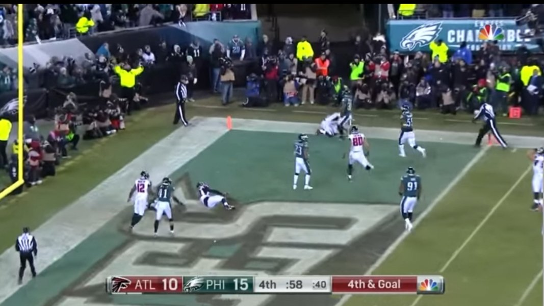 - 4th & Goal - 58 Seconds Left - 15-10 - From the 2 Yard Line - 1 Year Later #FlyEaglesFly