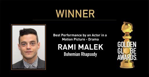 Rami Malek raih penghargaan aktor terbaik Golden Globe Awards 2019