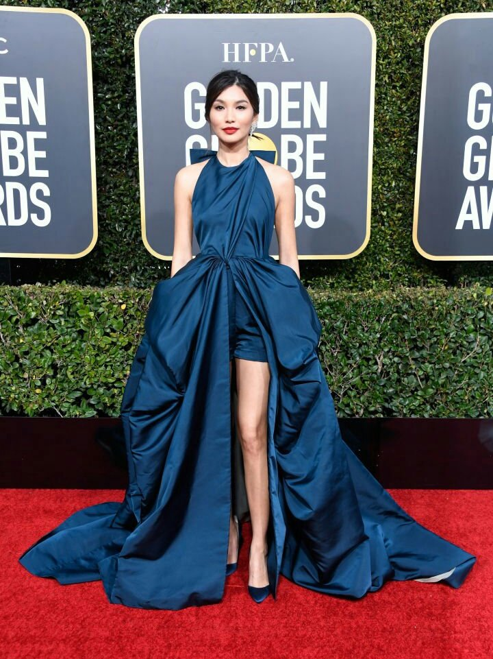 Gemma Chan SLAYING at the #GoldenGlobes