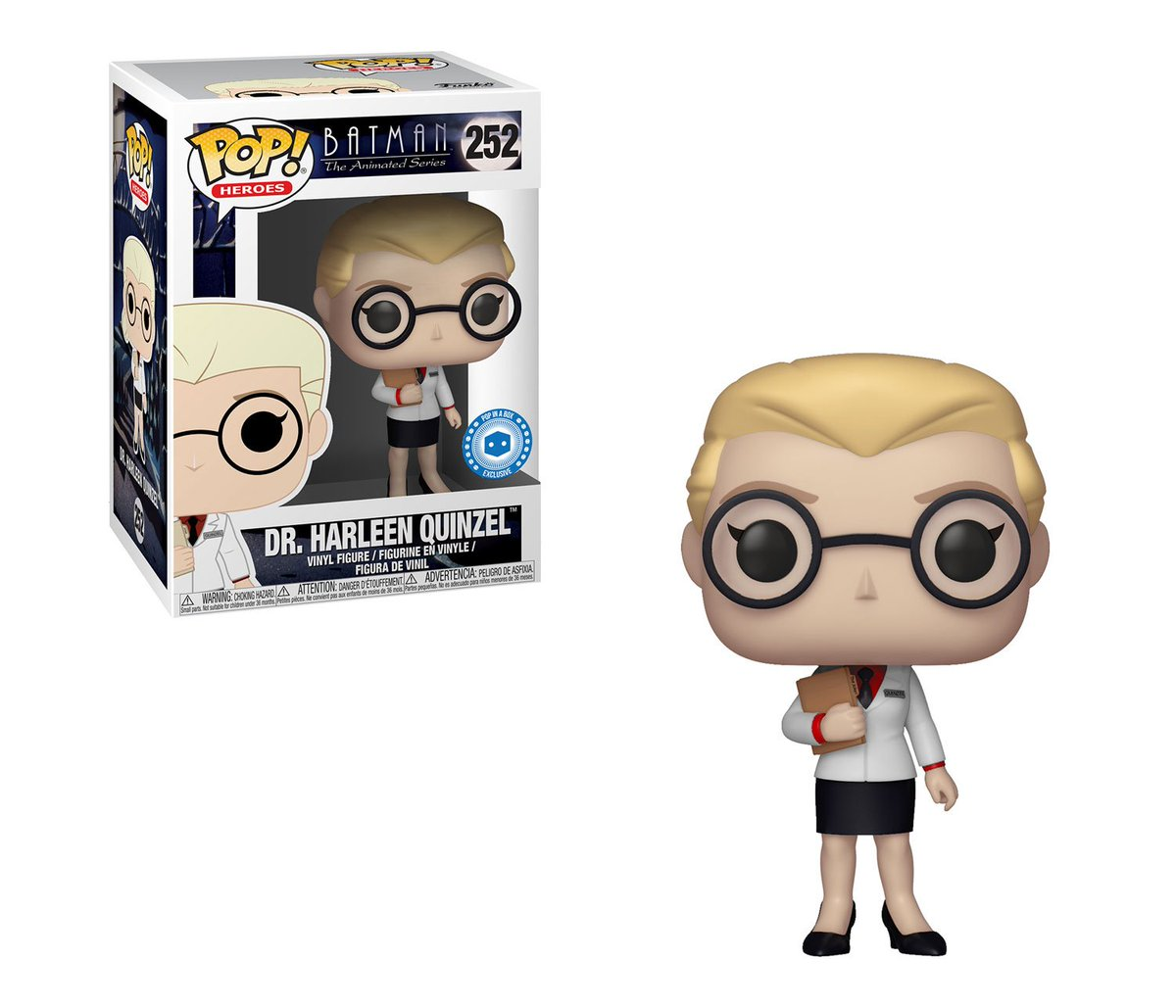 RT & follow @OriginalFunko for a chance to WIN a @PopInABox exclusive Dr. Harleen Quinzel Pop! #BTAS