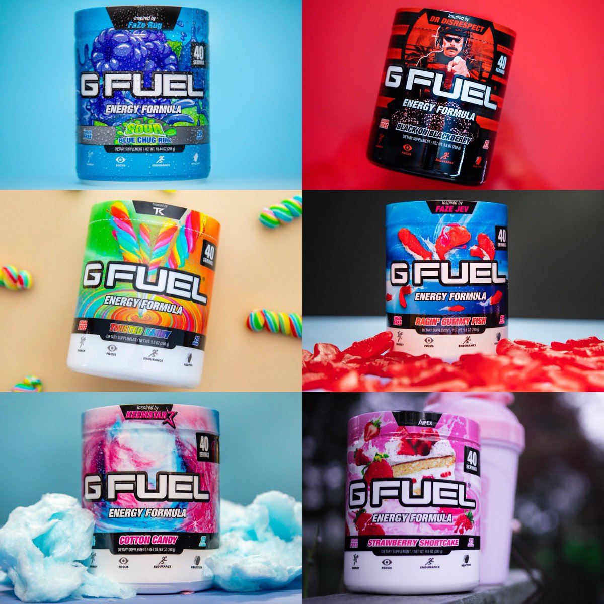 G Fuel On Twitter Which Gfuel Flavor Would You Pick From This Bunch