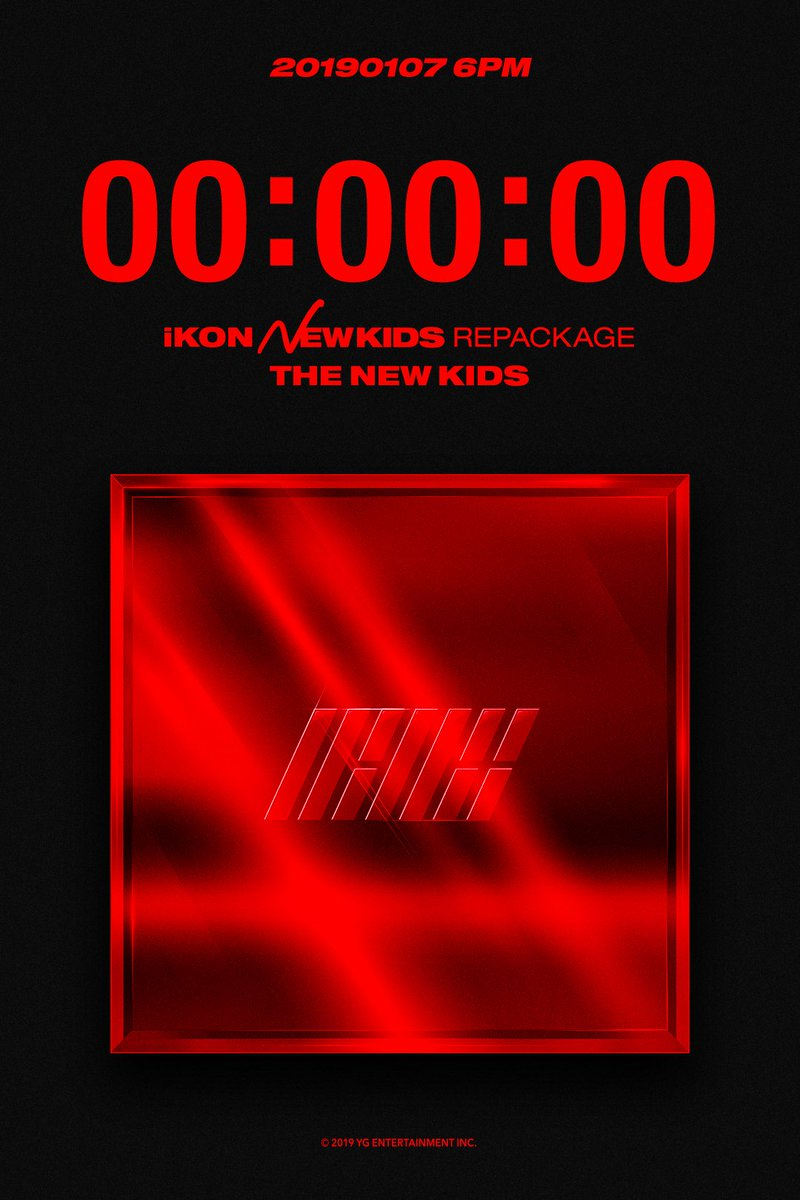 #iKON 'NEW KIDS REPACKAGE' ALBUM COUNTER Originally posted by https://t.co/XZQ3IOI9MY  New Single & M/V Release 🔜Today 6PM(KST)      #아이콘 #NewKidsRepackage #Title #IM_OK #Counter##20190107_6pm2#NewRelease0#OfflineRelease190108 #YG