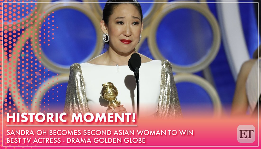 Sandra oh just had the moment of a lifetime as she became only the