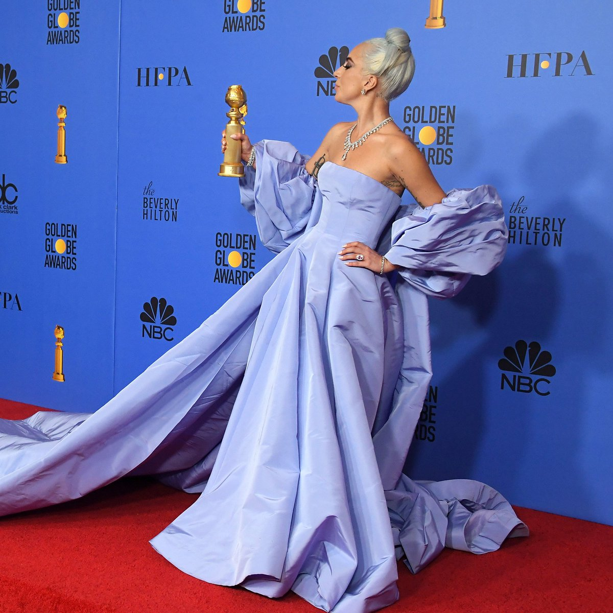 Win a #GoldenGlobe for Best Original Song... but make it fashion. @ladygaga