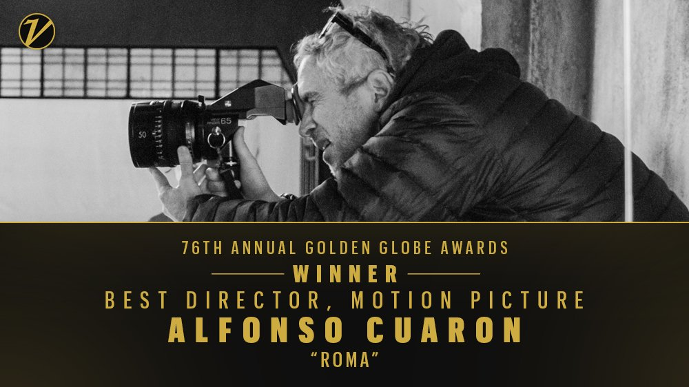 Alfonso Cuaron wins best director for #Roma https://t.co/Sjok1Td2jq #GoldenGlobes