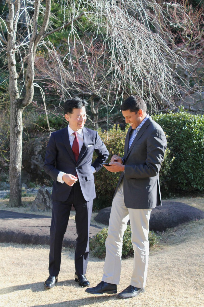 So happy to welcome @rajshah to @I_House_Japan on the day I start as Chairman. Gave me great advice as I embark on this new journey.  ロックフェラー財団理事長のラージ・シャー氏が家族で国際文化会館に遊びに来てくれました。就任日に友人が訪ねてくれるのは嬉しいものです。