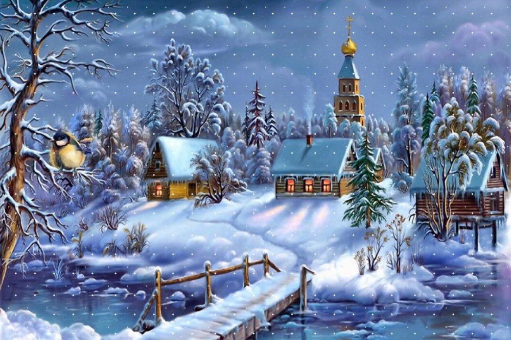 Открытки с добрым праздничным утром рождества, день