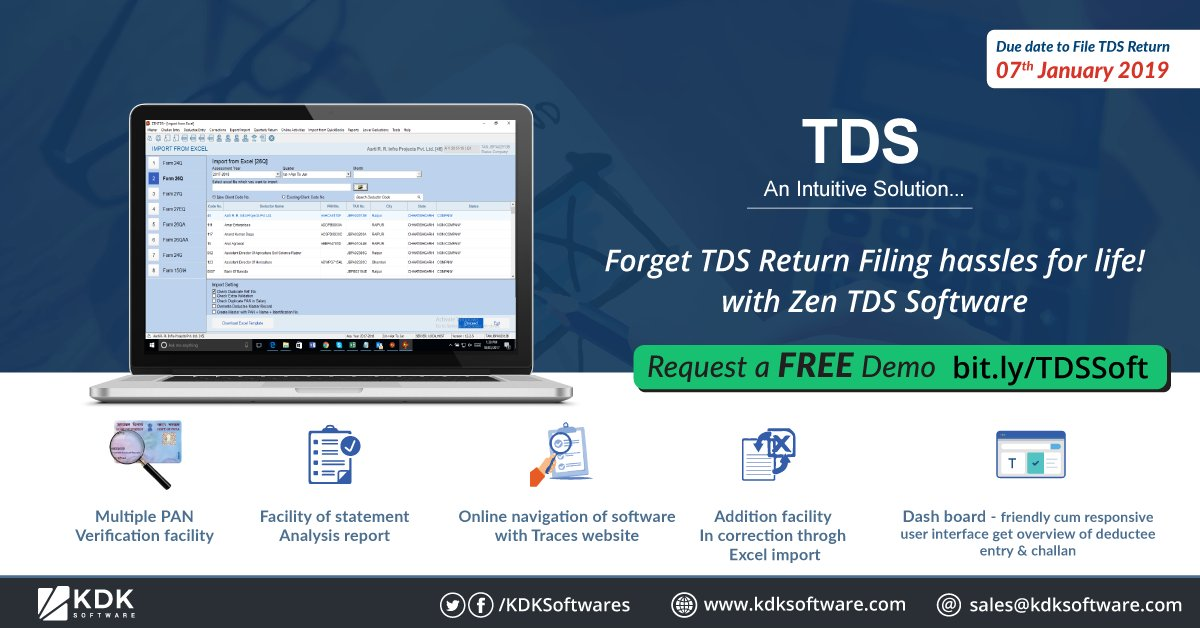 Kdk Softwares On Twitter Filing E Tds And E Tcs Returns Just Got