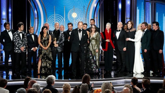 """Congratulations to writer and executive producer Tom Rob Smith on winning the Golden Globe for Best Limited Series with """"The Assassination of Gianni Versace: American Crime Story"""" 💫"""
