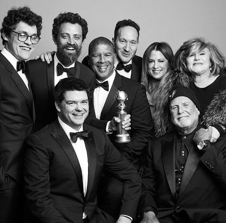 """Congratulations to writers, producers and directors Phil Lord, Chris Miller, Bob Persichetti, Peter Ramsey and Rodney Rothman on winning the Golden Globe for Best Animated Feature with """"Spider-Man: Into the Spider-Verse"""" 🕷✨"""