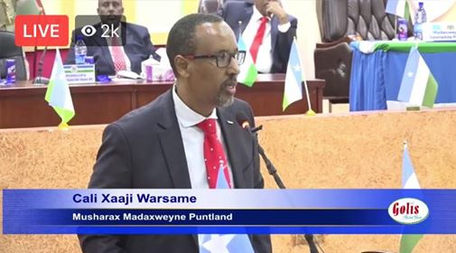 #UPDATE- #Puntland 2019 presidential hopefuls speeches to the parliament is under way at the house's parliament in #Garowe. #Somalia