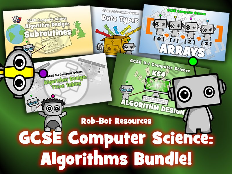 GCSE #computerscience algorithms bundle! Save over 40% on individual cost! Perfect for the start of term! #edtech #computationalthinking #cas #CSEdu #cancode #codebreaker Download today from my @TesResources shop:  https://www.tes.com/teaching-resource/gcse-9-1-computer-science-algorithms-bundle-12047097…