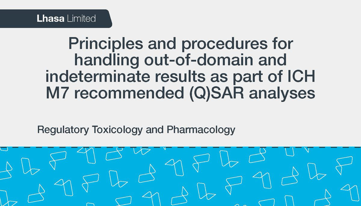 Available in Regulatory #Toxicology and #Pharmacology now, this open access, collaborative paper discusses (Q)SAR out of domain and indeterminate results in the content of ICH M7 - read it now: http://bit.ly/2CLQKtP #ICHM7 #QSAR
