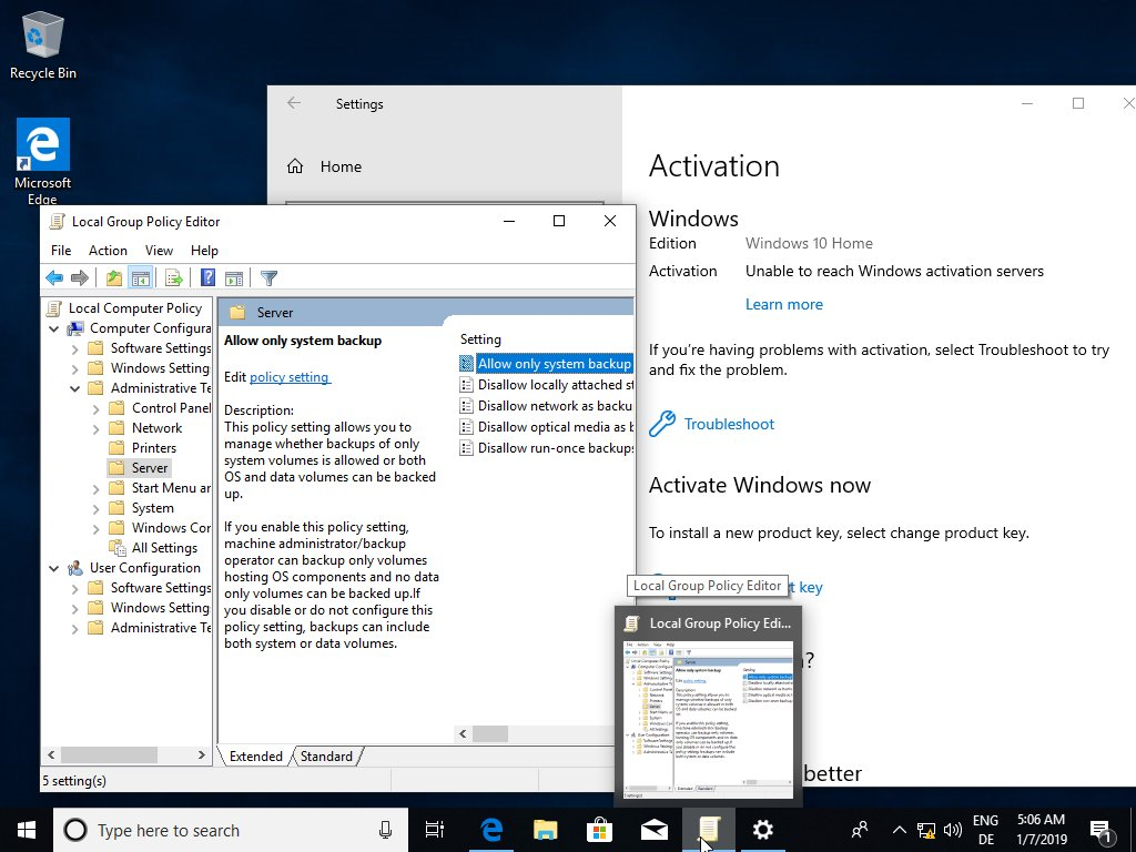 group policy on windows 10 home