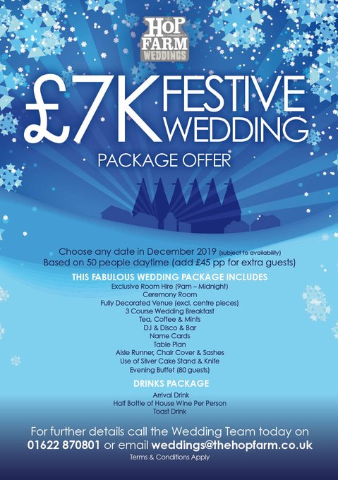 Planning a winter wedding in 2019? We have an AMAZING offer for you https://t.co/pgVuXcUw7C