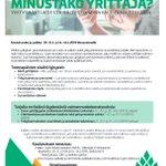 Image for the Tweet beginning: Minustako yrittäjä? - 5pv:n mittainen