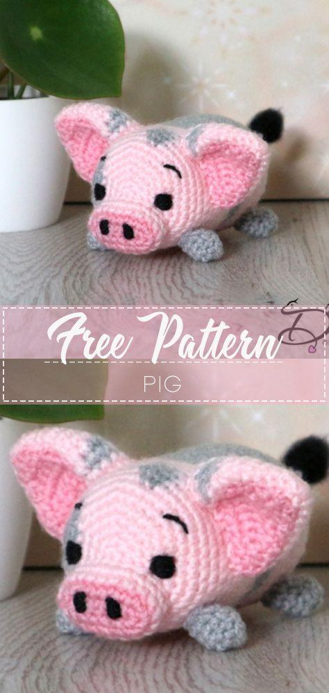 Beautiful Skills - Crochet Knitting Quilting : Pig Amigurumi ... | 997x474