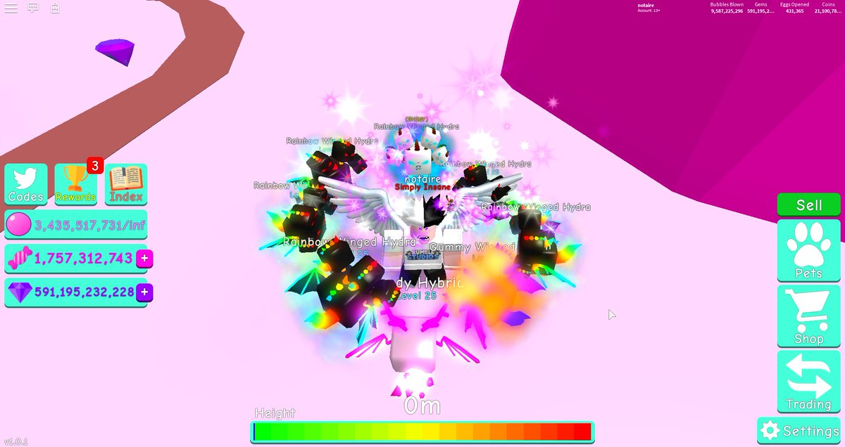 Current Team and Max Level Gummy Hydra Stats  #Roblox