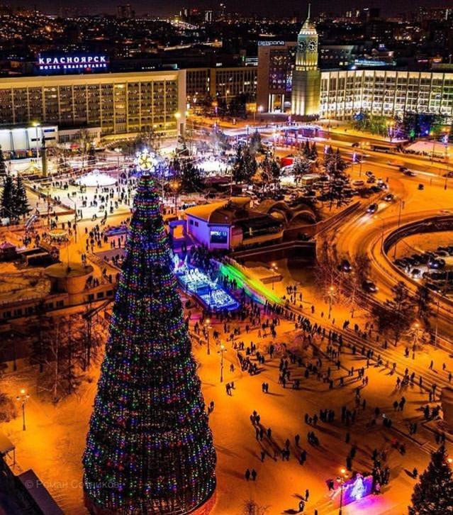 Красноярск новый год фото