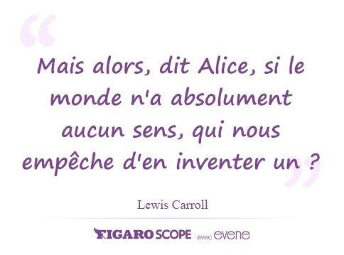 #CITATION La folie de Lewis Carroll, au-delà d'inventer un univers il alla jusqu'à inventer une langue, n'a pas d'égal >> Foto