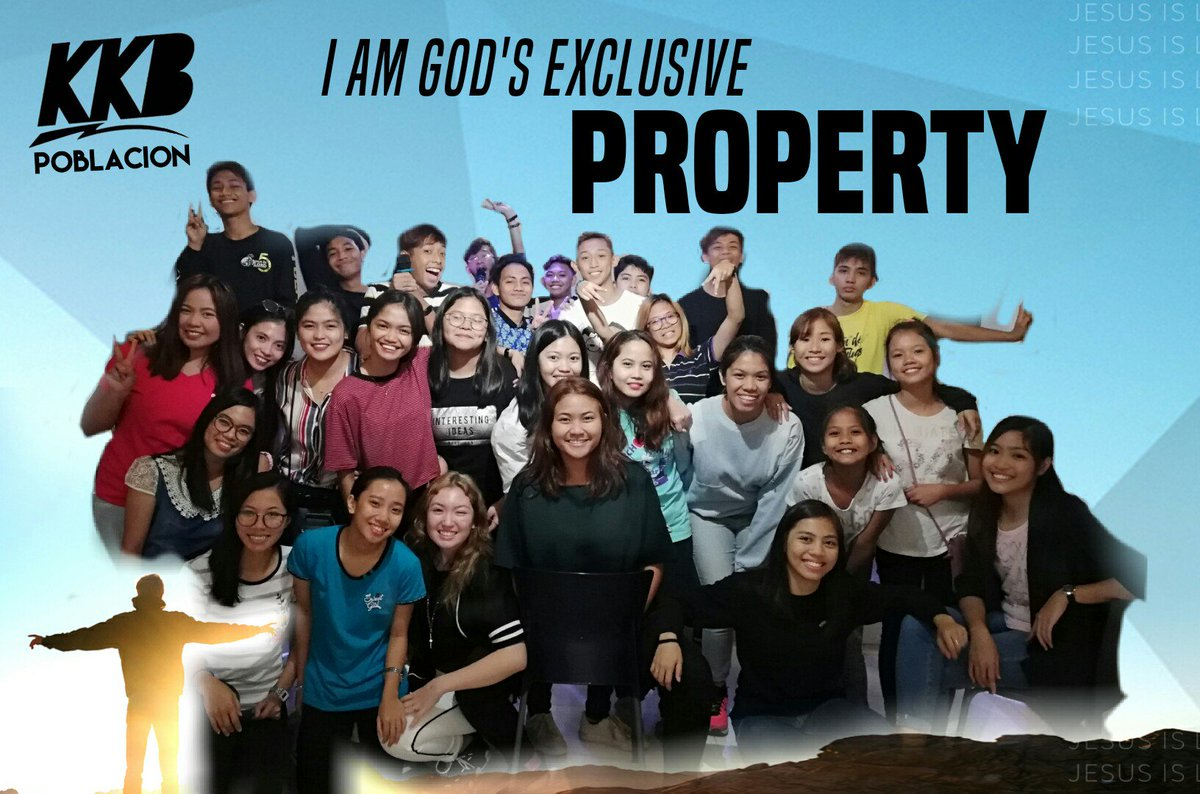 YOUTH SERVICE | Sundays | 1PM  I AM GOD'S EXCLUSIVE PROPERTY.  Glory to God for we, KKBs know that Jesus will be our Lord this 2019. Sama-sama nating i-declare that JESUS IS LORD OVER OUR LIVES! God bless.  See you next Youth Service!  #firstYS #KKBPoblacion