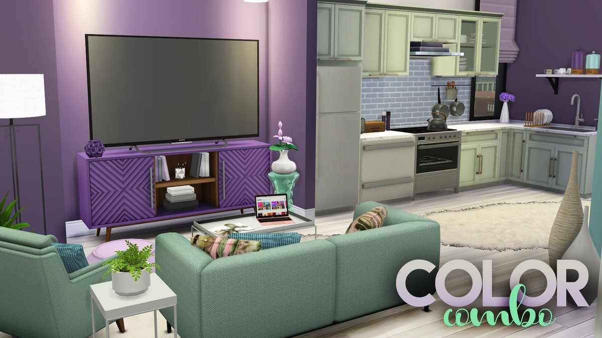 Mr Olkan Auf Twitter Color Combo 3 Mint Amp Lavender Cc Links The Sims 4 Apartment Build Https T Co Apuftmief7 Youtube Showusyourbuilds Thesims Thesims4 Sims Sims4 Lavender Mint Green Purple Color