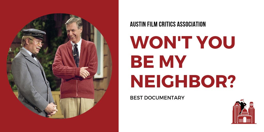 BEST DOCUMENTARY: 'Won't You Be My Neighbor?' (@mrrogersmovie), directed by Morgan Neville