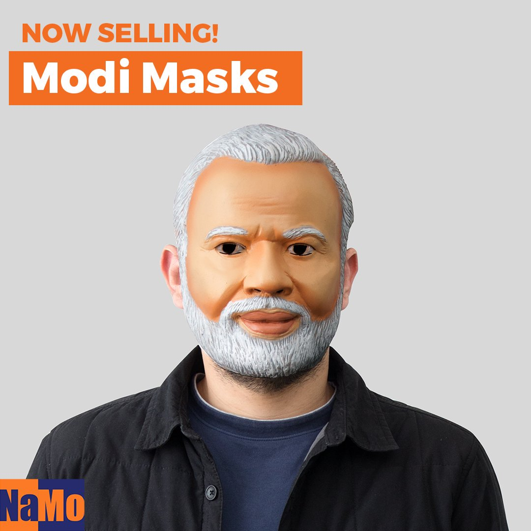 Presenting the official NaMo Mask!! Bring out the inner #PMNarendraModi fan in you!! Check this out at http://bit.ly/NaMo_Mask or on the NaMo App at http://nm4.in/dnldapp