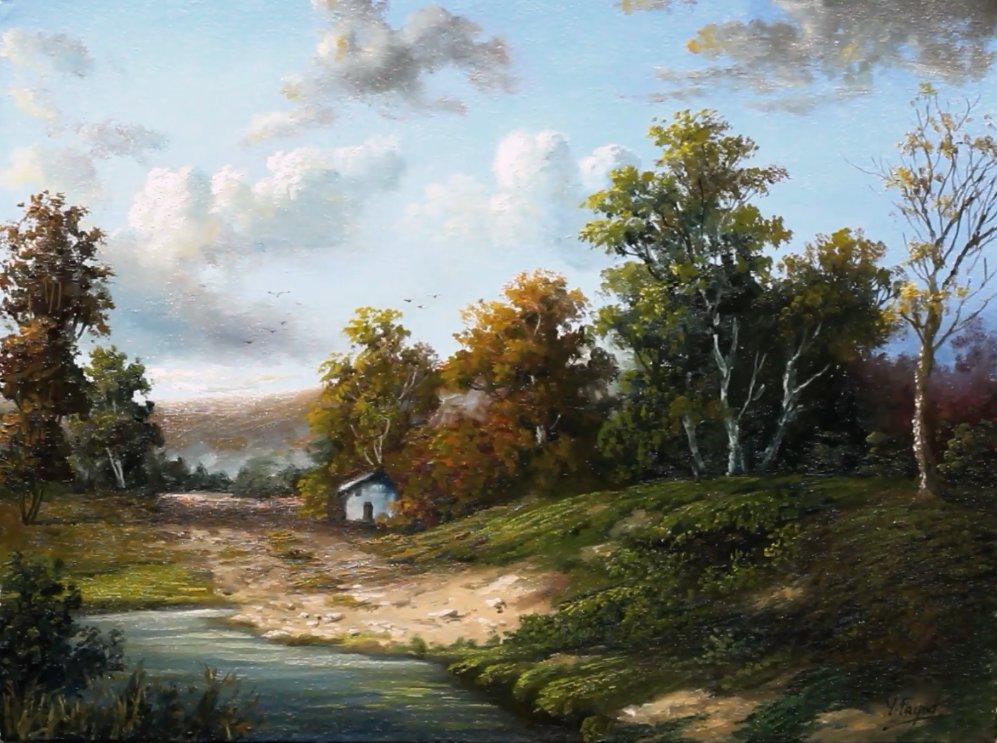Landscape Oil Painting By Yasser Fayad https://www.youtube.com/watch?v=xFoU6JrG9dc…