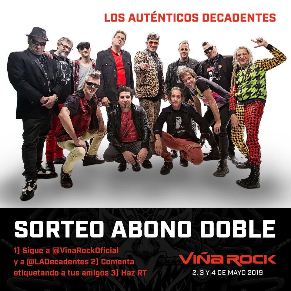 Sorteo para venir al @vinarockoficial !!! Premio 🥇 ABONO DOBLE 👏🏻 Es muy fácil, presten atención 🤓 ☑️ seguir a @vinarockoficial y @autenticosdecadentes  ☑️hacer RT ☑️comentar arrobando amigxs ☑️ tienen tiempo hasta el 9 de enero Salu🍷 @popartdiscos @tribalproducciones